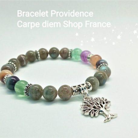 bracelet Providence labradorite fluorite agate botswana mémoire protection paix collagène énergie stress équilibre