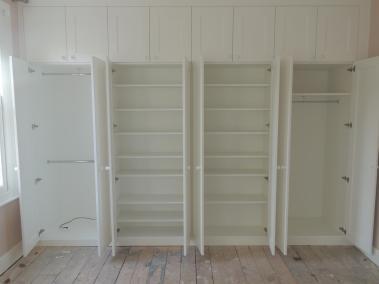 Bespoke Fitted Wardrobe White Open Door
