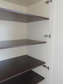 Bespoke Fitted Wardrobe with Walnut Effect Shelving