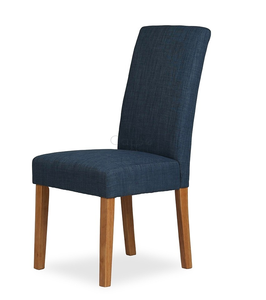 Upholstered Dining Chair  Navy Blue
