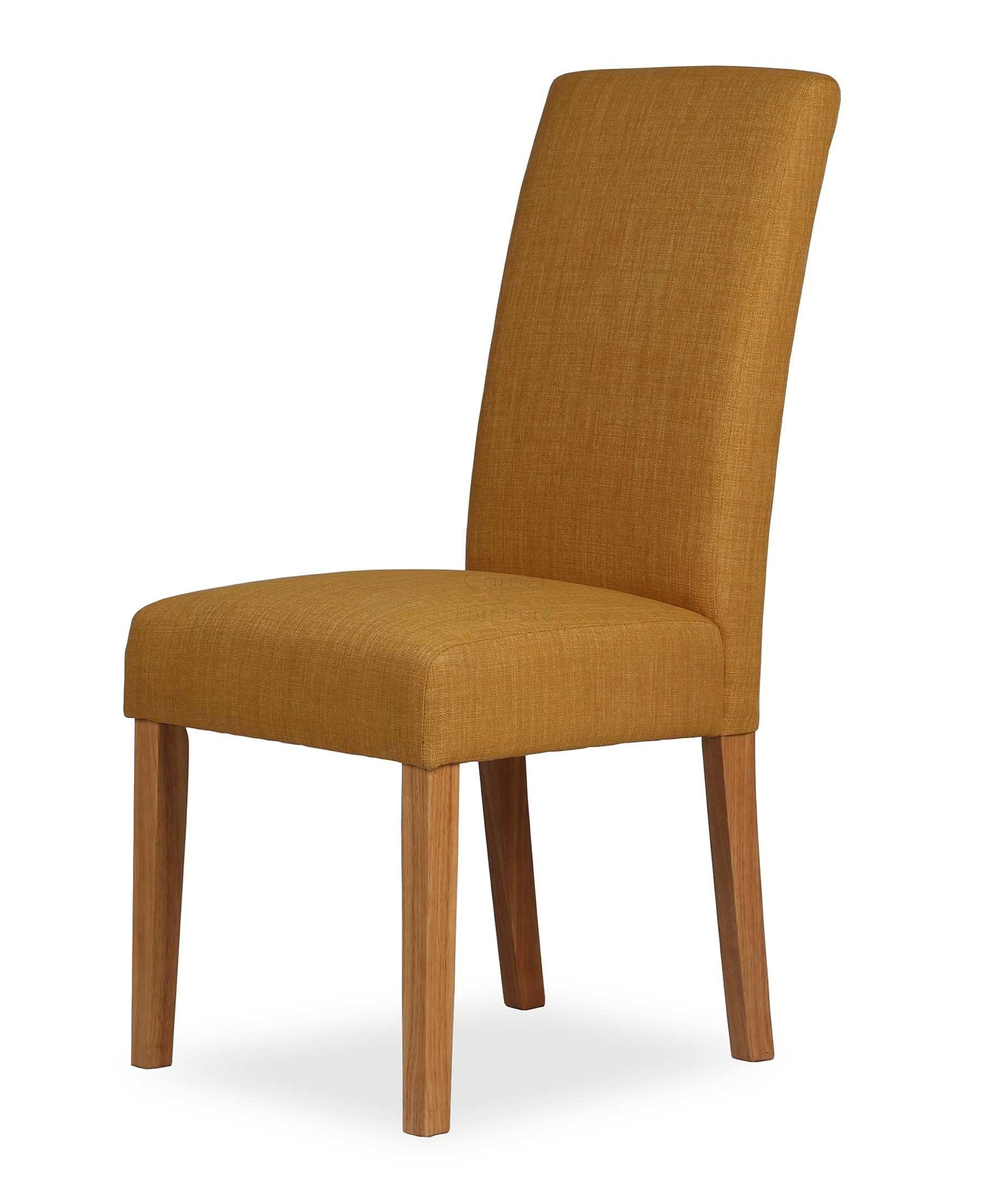 Upholstered Dining Chair  Mustard