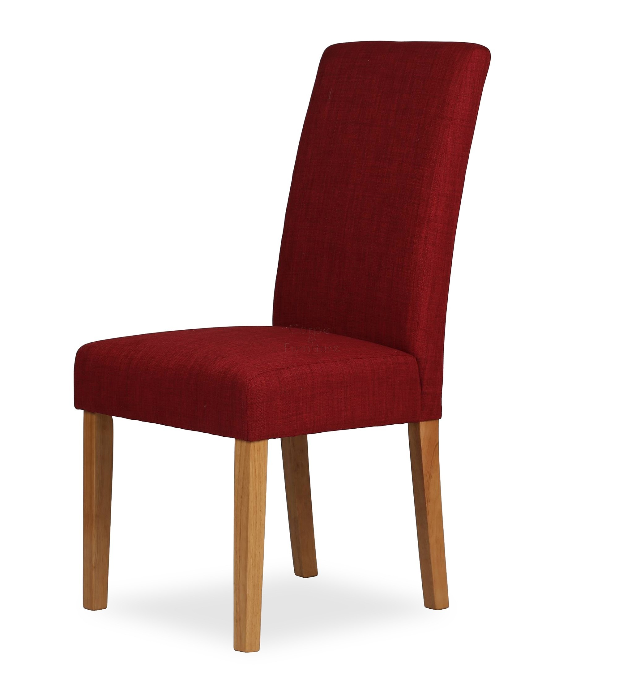 Red Upholstered Dining Chairs Upholstered Dining Chair Claret Red