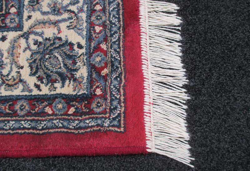 carpet binders christchurch red edge rug with white tassels