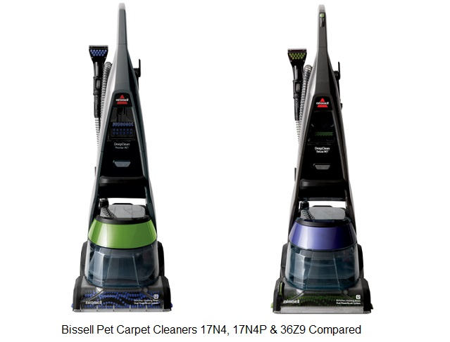 Bissell Pet Carpet Cleaners 17N4 17N4P  36Z9 Compared