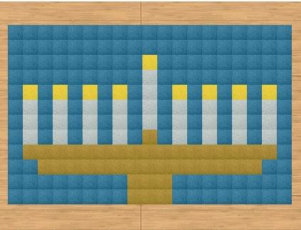 Hanukkah Carpet Design
