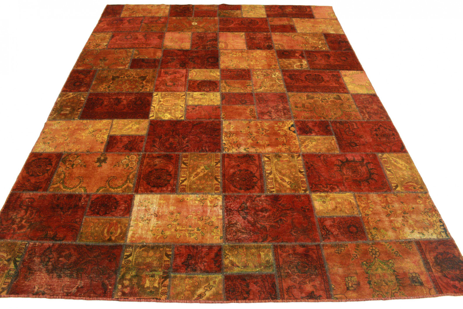 Teppich Orange Patchwork Teppich Orange Braun In 400x300cm 1001 1840