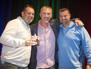 Jim Brown and John Brown, CarpetsPlus COLORTILE in Bloomington, IL, win the Star of the Summit Award