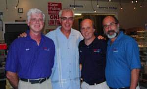 Ron with Bob Cowart, Ray Alter and Ron LaGuardia, CarpetsPlus COLORTILE of New York