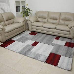 שטיח אומגה דגם קוביות אדום