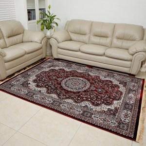 שטיח דמוי משי מדליון אדום