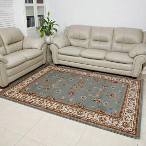 שטיח קלאסי דגם זיגלר תכלת
