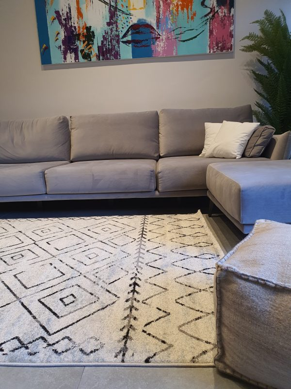שטיח ברבר שחור לבן 02
