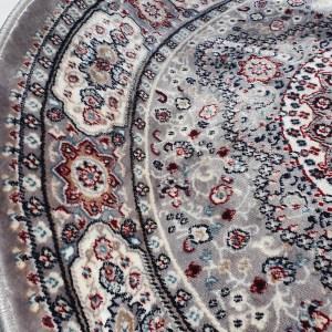 שטיח קלאסי עגול צבע אפור (2)
