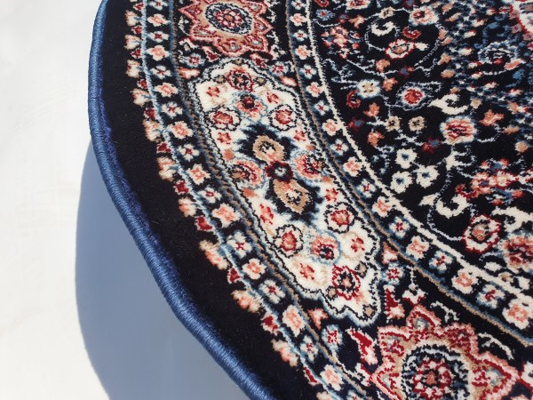 שטיח קלאסי עגול צבע כחול (2)