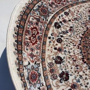 שטיח קלאסי עגול צבע כרם (2)