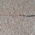 carpet seams showing overlap