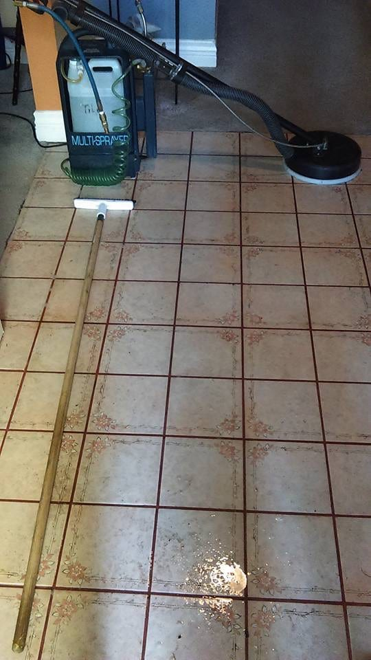 Tile Floor cleaning