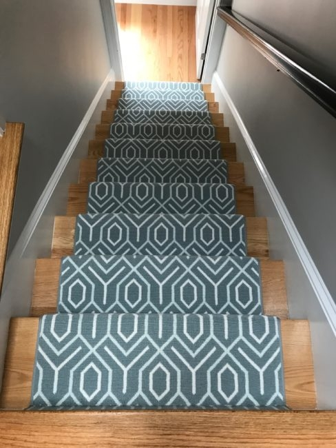 Stair Runners Everything You Need To Know Carpet Workroom | Cost Of Carpet For Stairs And Landing | Sisal Stair Runner | Handrail | Wood | Carpet Runner | Hardwood