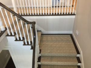 Wool Carpet Blends A Perfect Middle Ground Carpet Workroom   Carpet In Middle Of Stairs   Exposed Tread   Hardwood   Wood   Victorian   Popular