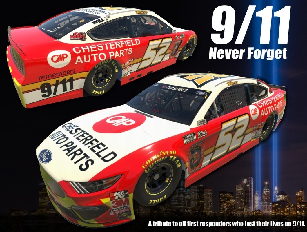 NASCAR Driver Josh Bilicki and Chesterfield Auto Parts Host Event To Raise Funds and Remember 9-11 Fallen Heroes
