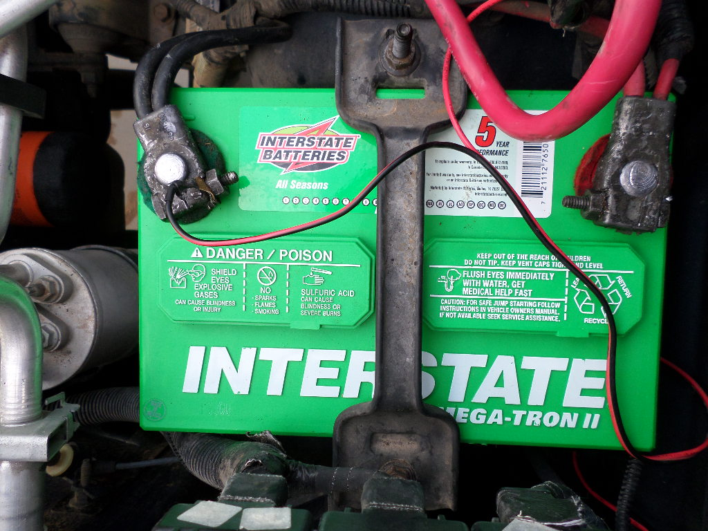 hight resolution of interstate battery installed on 2000 jeep wrangler