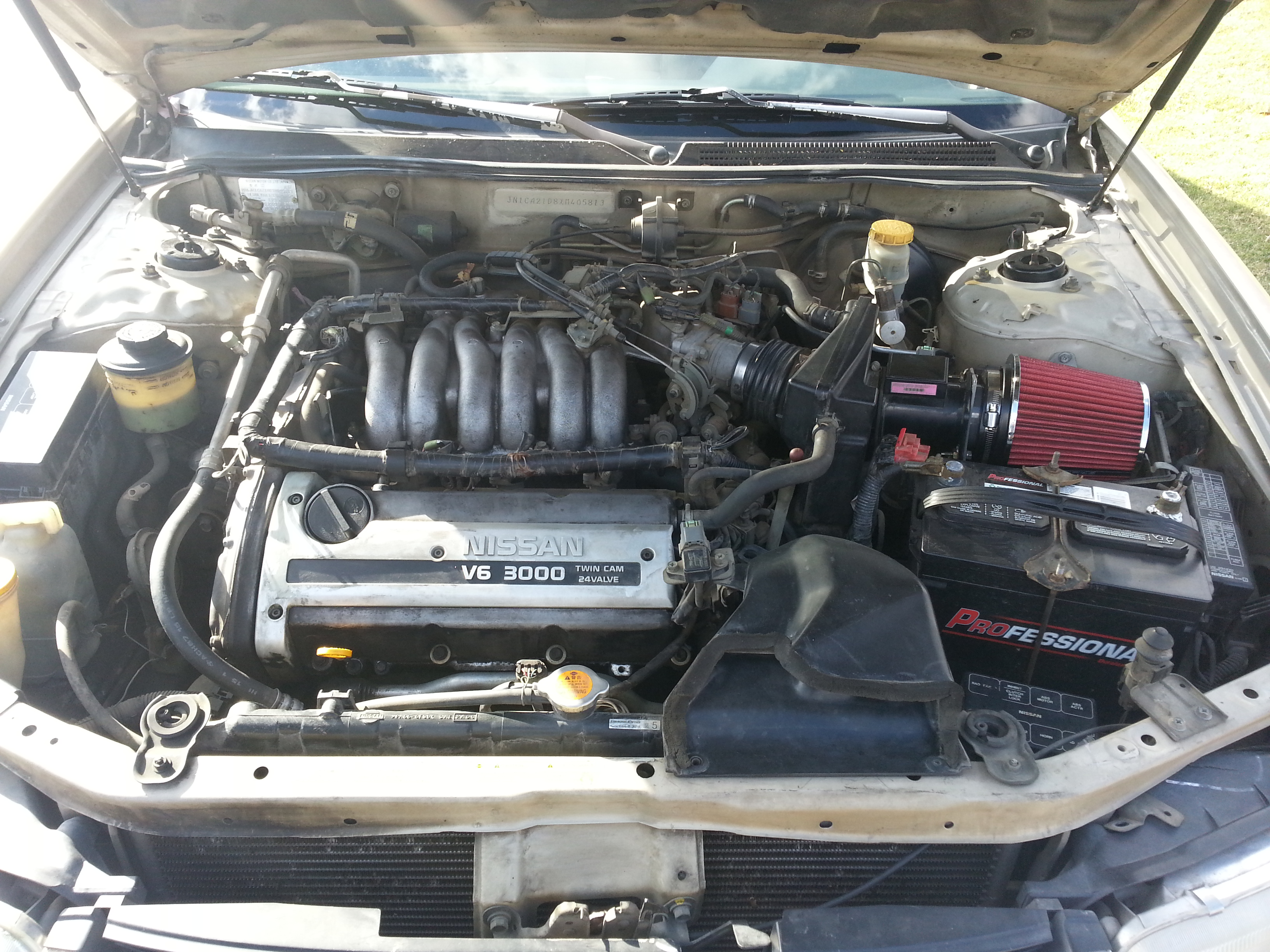 small resolution of spectre intake installed on 1999 nissan maxima