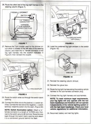 NEED FOG LIGHT DIAGRAM  HondaTech  Honda Forum Discussion