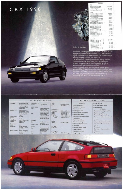 small resolution of 1990 canadian crx brochure pics