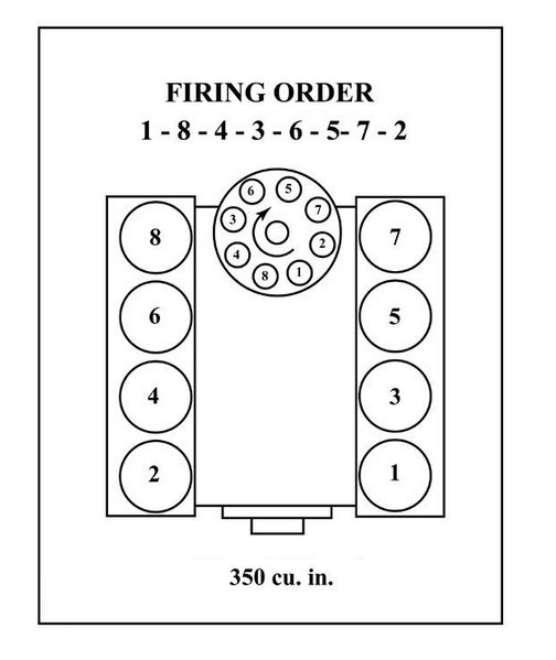 1990 chevy 350 distributor fireing order
