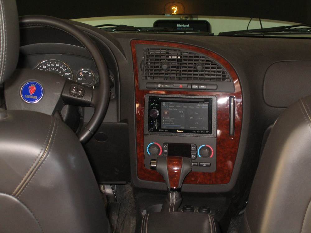 medium resolution of 04 16 2009the stereo is done there is a new pioneer avic another timgrady 2007 saab 9 7x