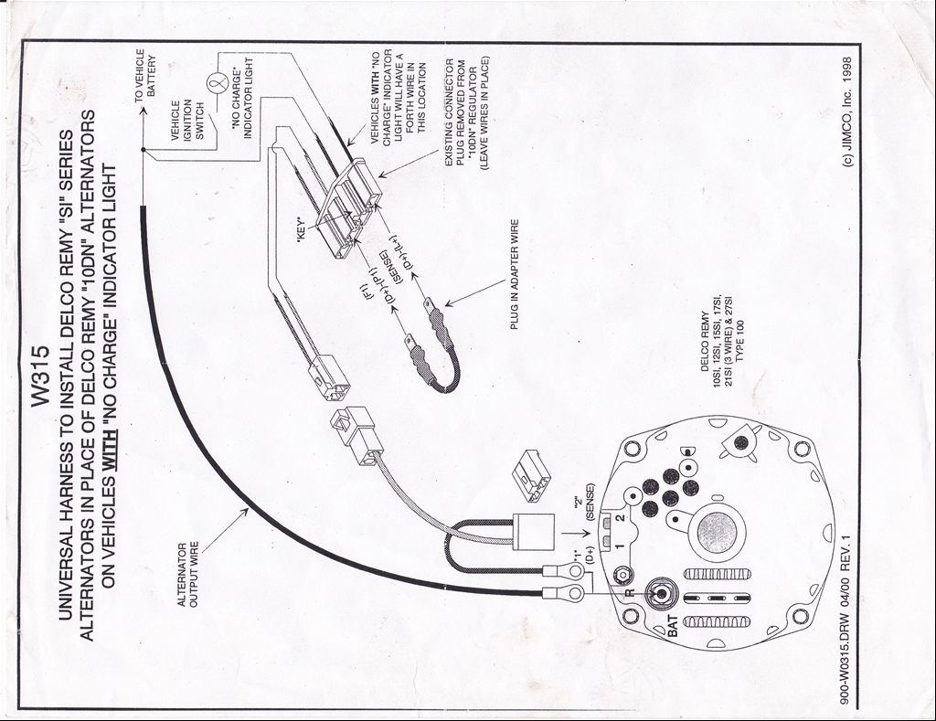 Gm Internal Regulator Wiring Diagram, Gm, Free Engine
