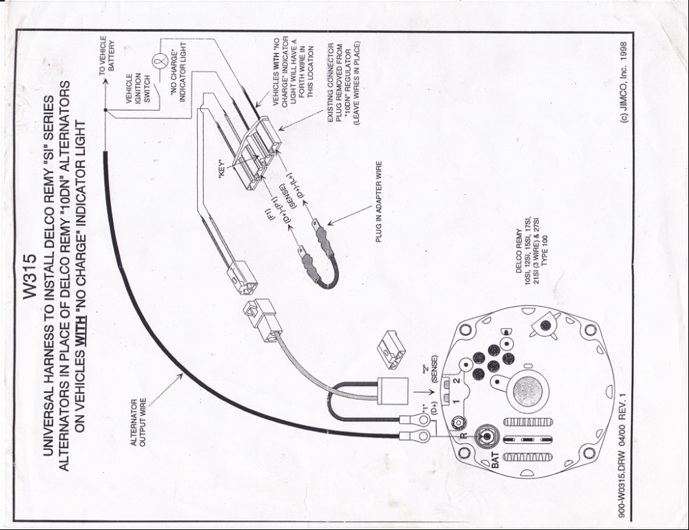 medium resolution of 27446574004 large change from external regulator to internal regulator chevytalk at cita asia gm external voltage regulator wiring diagram
