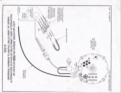 small resolution of 27446574004 large change from external regulator to internal regulator chevytalk at cita asia gm external voltage regulator wiring diagram