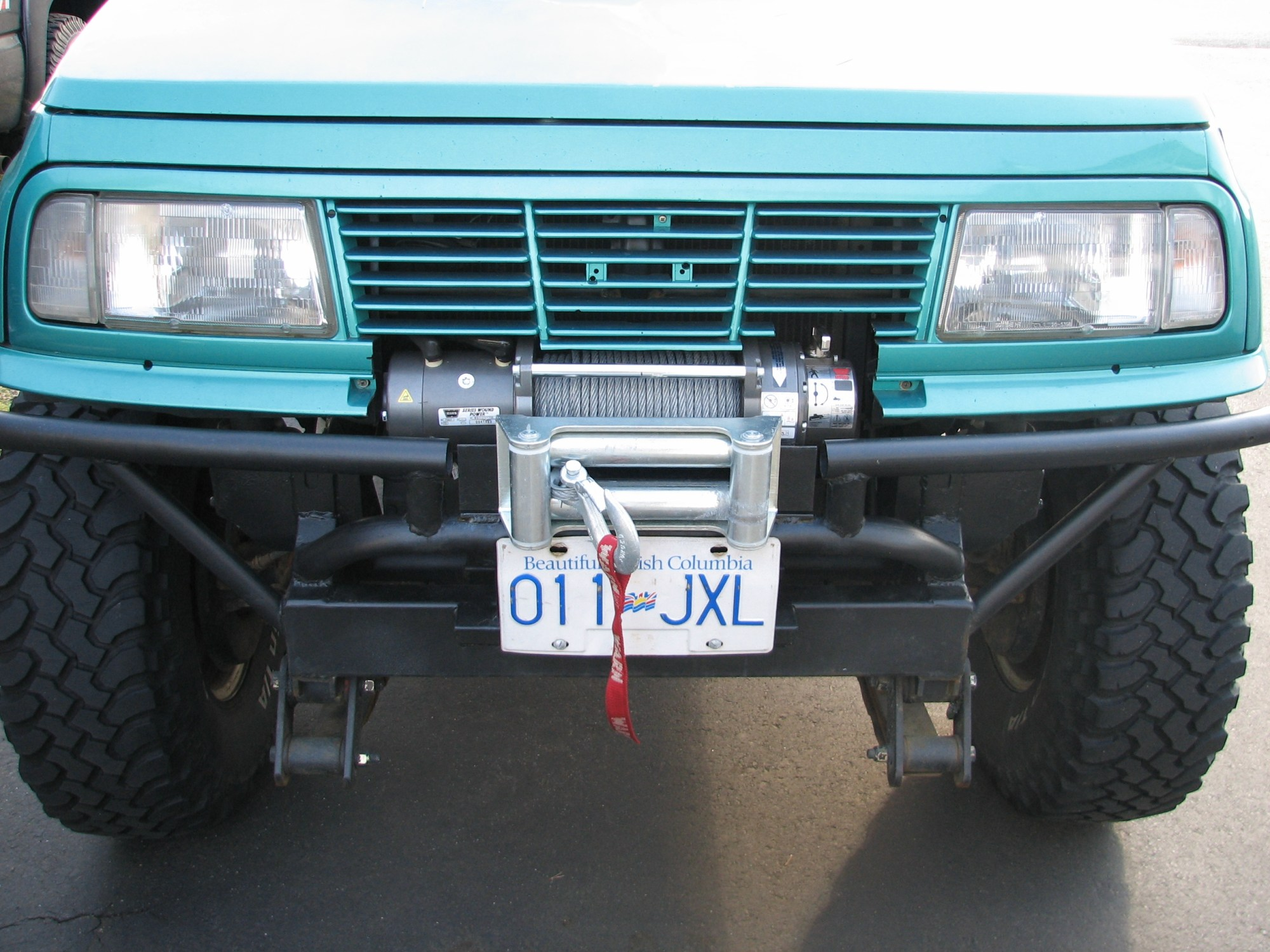 hight resolution of i decided to install a winch new warn m8000 the control box is mounted under the hood built the bumper around the winch couple pics