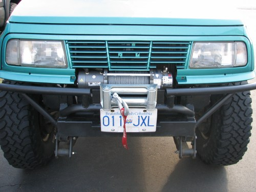 small resolution of i decided to install a winch new warn m8000 the control box is mounted under the hood built the bumper around the winch couple pics