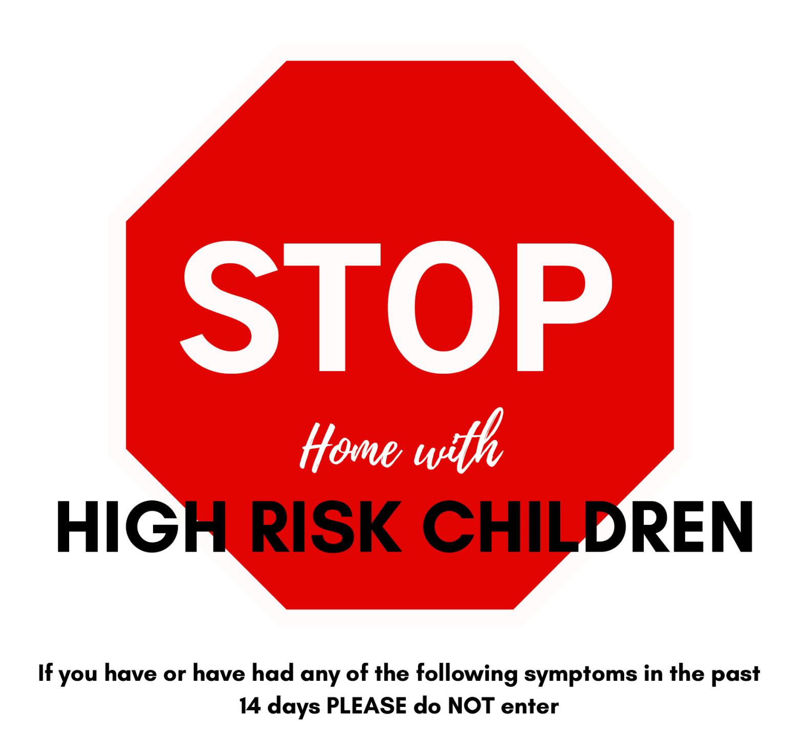 High Risk Coronavirus Poster