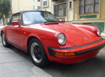 1983 Porsche 911SC Cabriolet Guards Red