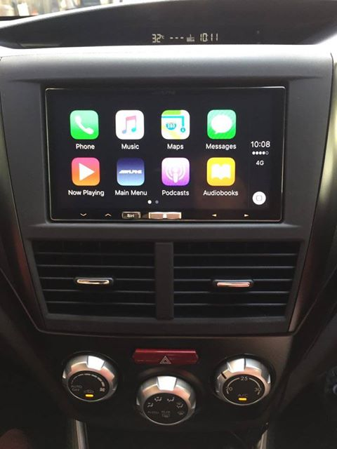 Carplay Installs Alpine Ilx 700 In A 2011 Subaru Wrx Sti Carplay
