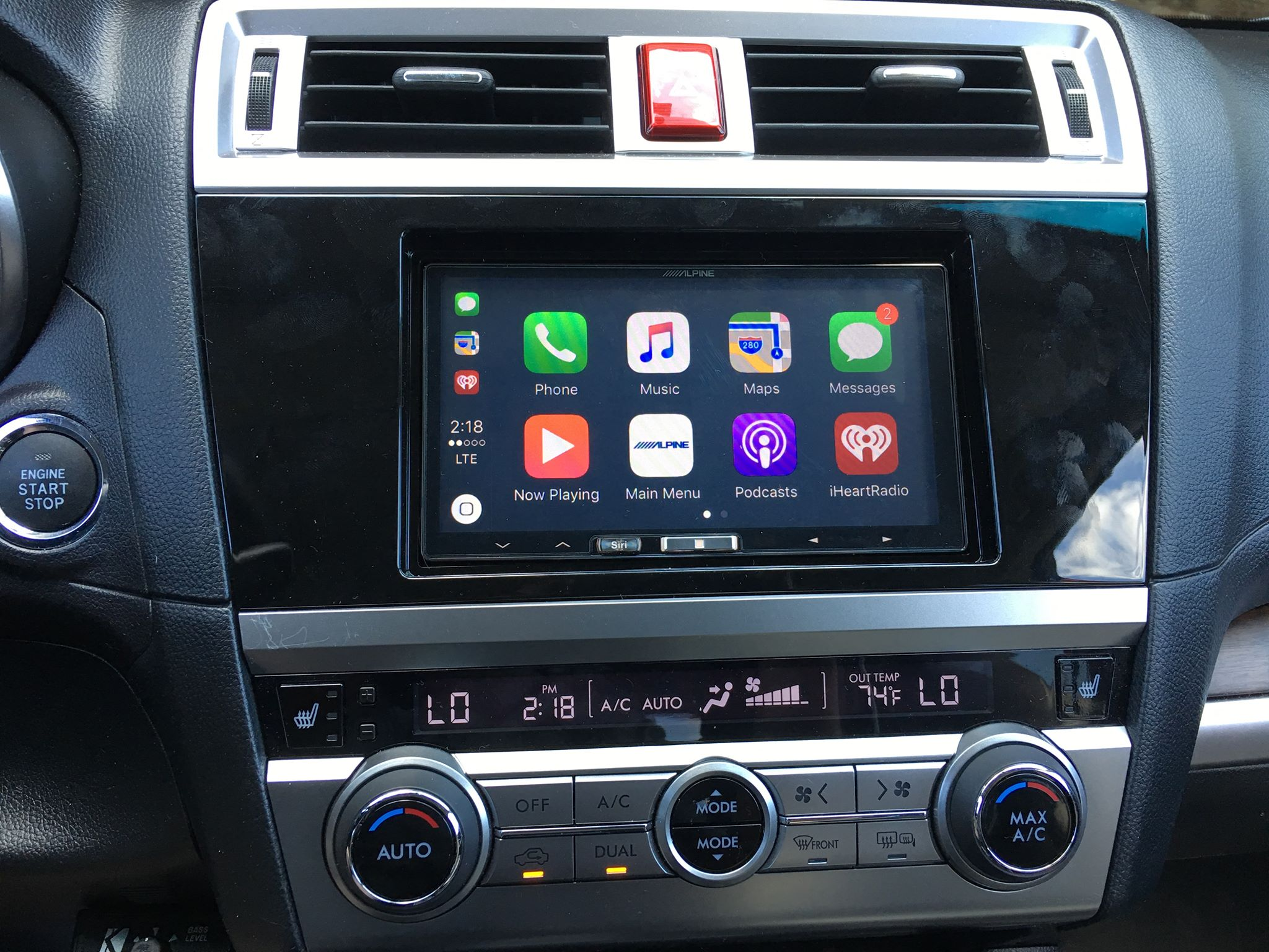 Carplay Installs Alpine Ilx 107 In A 2016 Subaru Outback Carplay