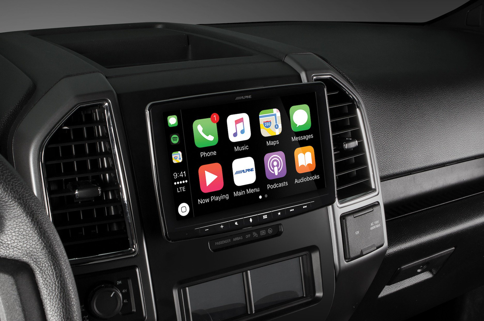 Alpine Announces New 9 Inch Hovering Apple Carplay Receiver