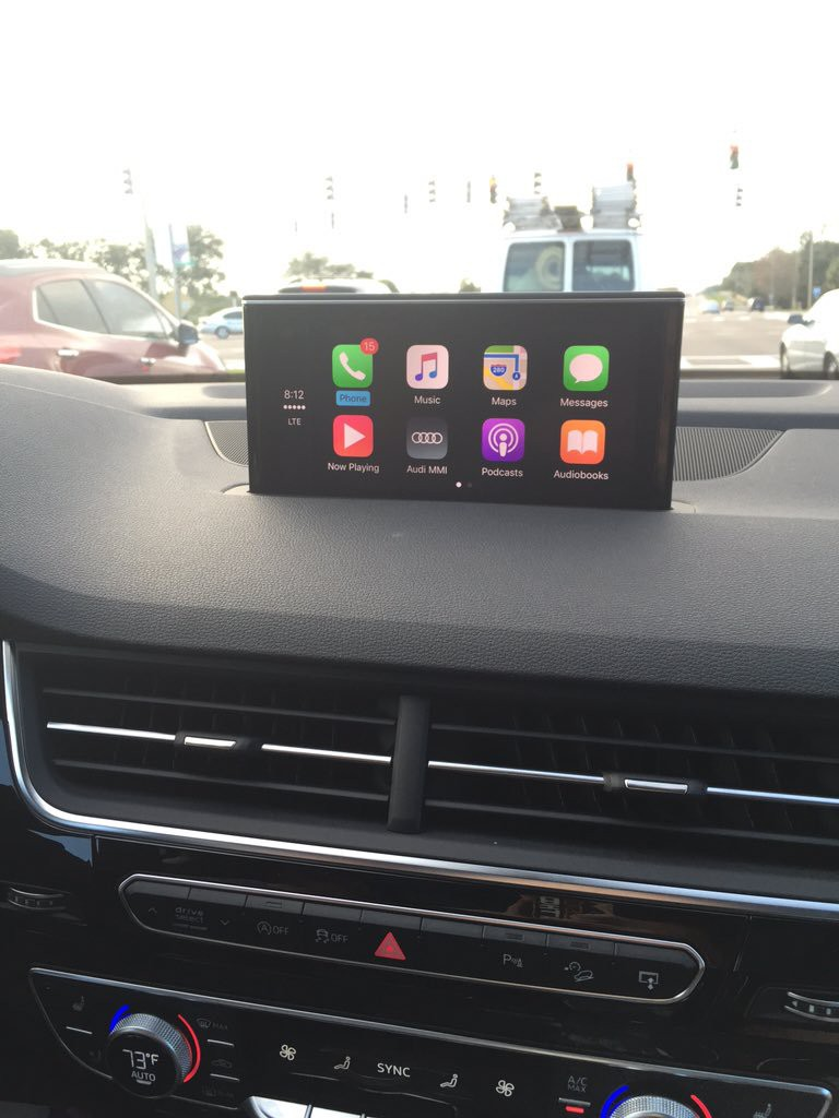 CarPlay Installs: Factory Fitted in a 2016 Audi Q7 – CarPlay Life