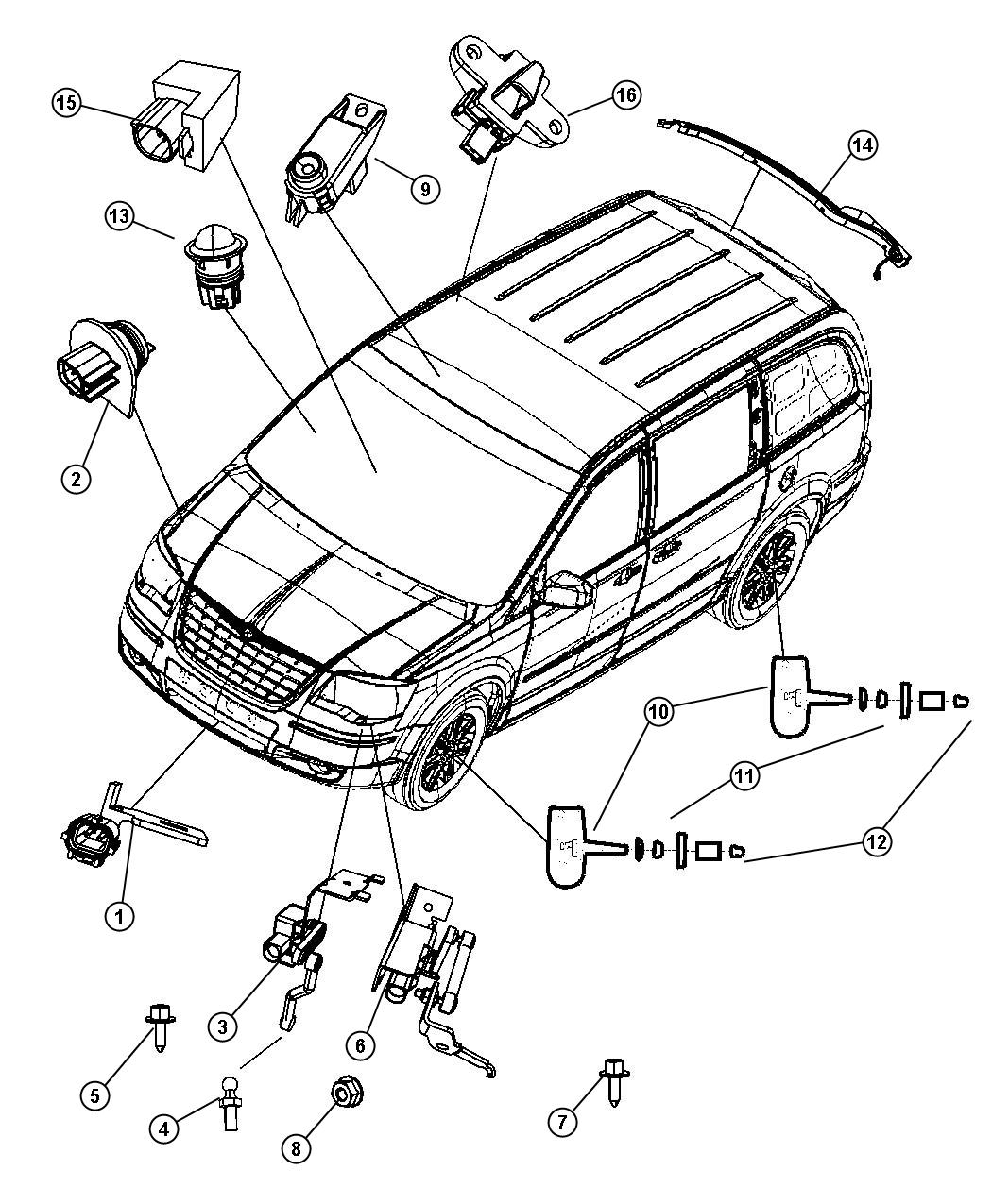 chrysler town and country parts diagram control wiring of apfc panel 2008 automotive