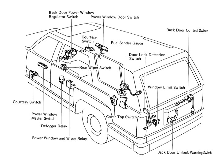 2001 Toyota 4Runner Parts Diagram 2000 Toyota 4Runner