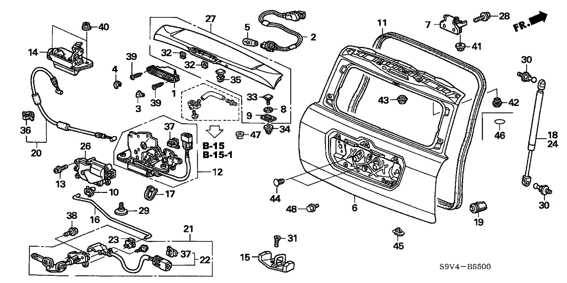 Wiring Diagram: 30 2005 Honda Crv Parts Diagram