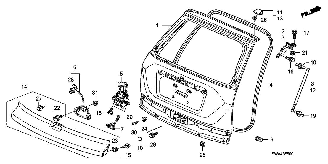 Service manual [2012 Honda Cr V Liftgate Panel Removal