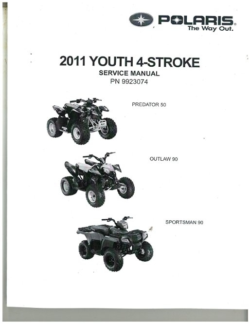2011 Outlaw 50 90, Sportsman 90 Polaris Atv Service Manual