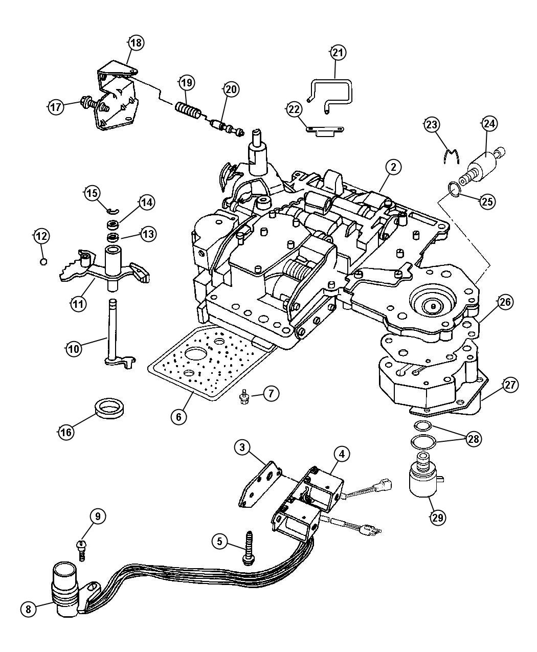 Dodge Transmission Parts Diagram 2001 Dodge Dakota Parts