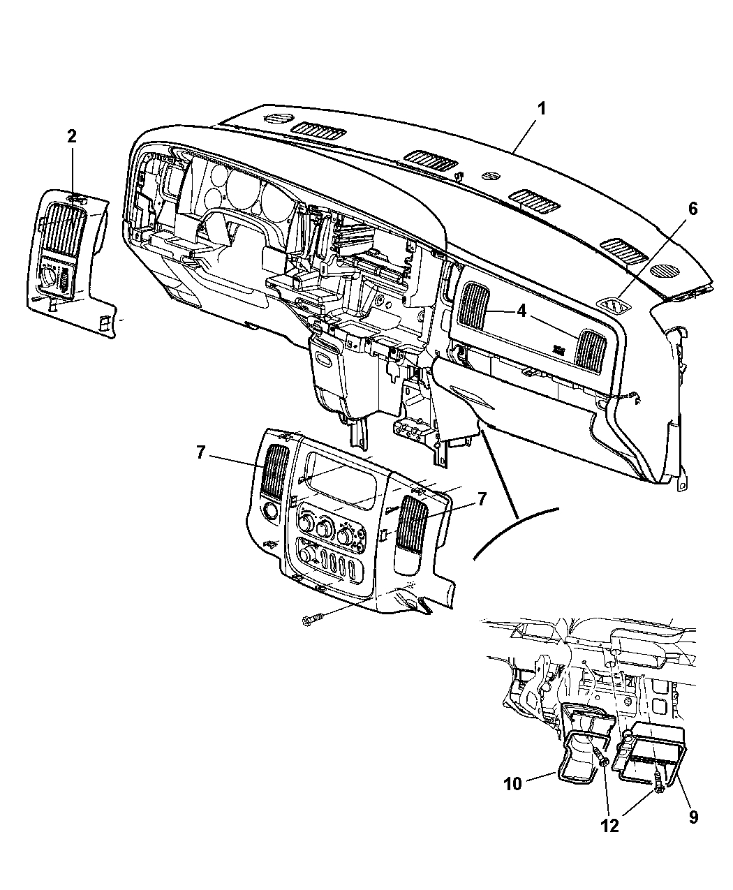 dodge ram front end diagram spst lighted switch wiring 2002 1500 parts automotive