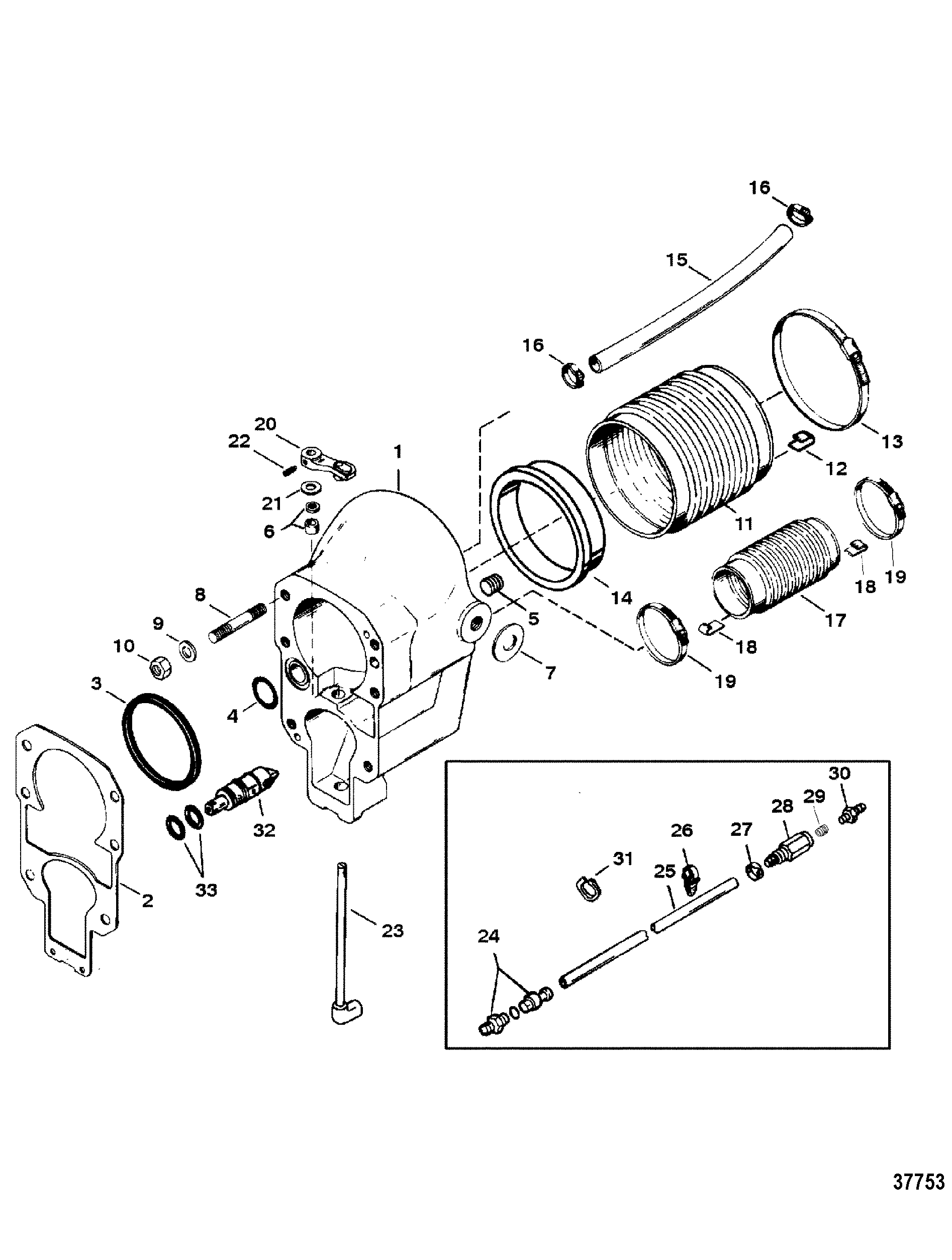 alpha one sterndrive parts diagram 1990 ford fuel system mercruiser outdrive automotive