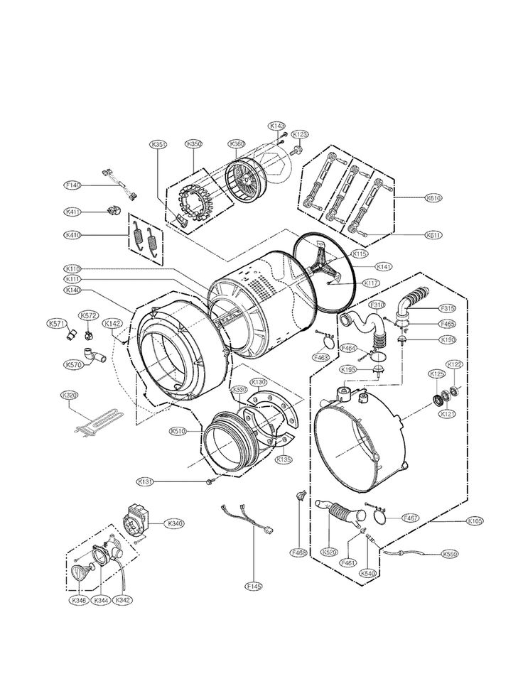 Wiring Diagram: 34 Kenmore Stackable Washer Dryer Parts